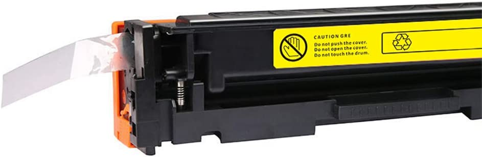 Cartridge Cartridge Set for HP M254dw 254nw 280nw 281fdw 281fdn with chip 3200 Pages Black red Blue Yellow Large Capacity Does not Hurt Printer Office Supplies-Yellow