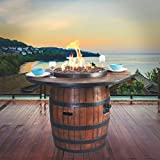 Bodega Fire Table — Wine Barrel Inspired For Sale