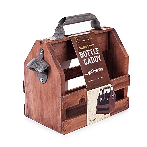 6 Pack Bottle Caddy And Bottle Opener ()