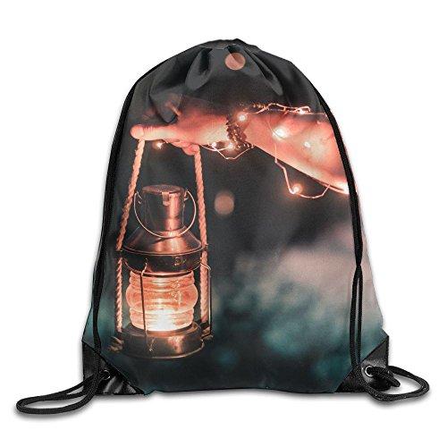 Linda Oil Lamp - Yifui Gray Steel Oil Lamp Drawstring Bag For Traveling Or Shopping Casual Daypacks School Bags