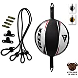 RDX Double End Speed Ball Leather Boxing MMA Dodge Bag Floor to Ceiling Rope Training Punching Workout