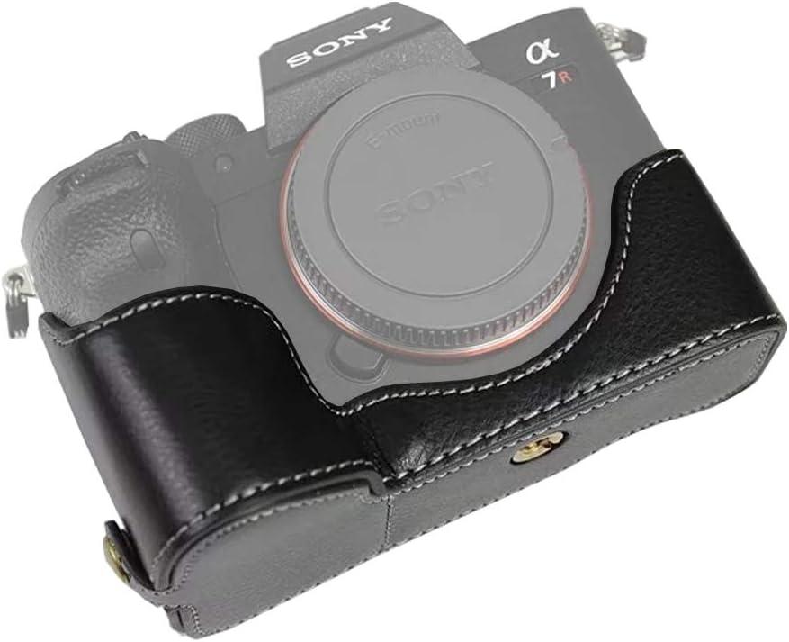 Easy Hood Schutzhülle Für Sony Alpha 7r Iv Leder Halbe Schutzhülle Für Sony Alpha 7r Iv A7r Iv A7r 4 A7rm4 Ilce 7rm4 Kamera Schwarz Elektronik
