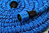 Expandable and Flexible Garden Hose 25, 50 and 75 Foot Expanding or Collapsible Hose for Easy Home Storage (Blue, 75 Foot)