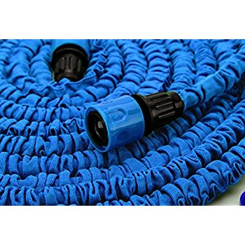 Expandable And Flexible Garden Hose. 25, 50 And 75 Foot Expanding Or Collapsible  Hose For Easy Home Storage (Blue, 25 Foot)