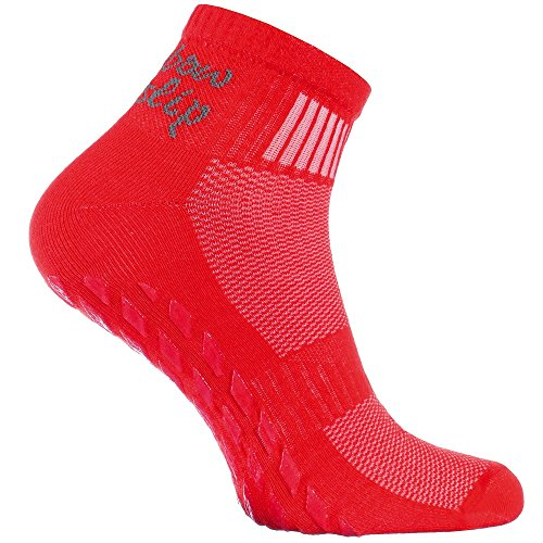 1 pair of Red Non-slip Socks, ABS system, ideal for Athletes: Yoga,...