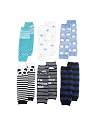 TopTie 6 Pairs Baby Leg Warmers for Toddler Boy, Cute Assorted Designs
