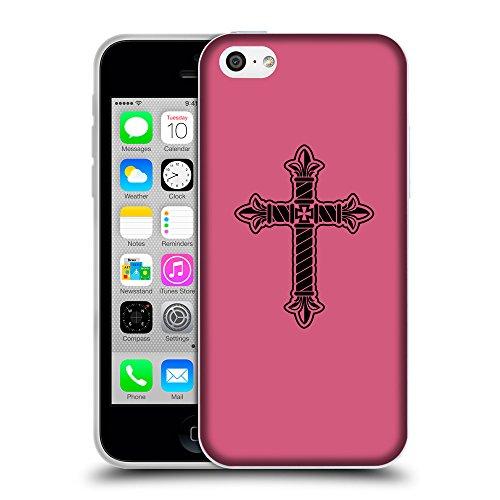 GoGoMobile Coque de Protection TPU Silicone Case pour // Q07960614 Christian Cross 21 Rougir // Apple iPhone 5C