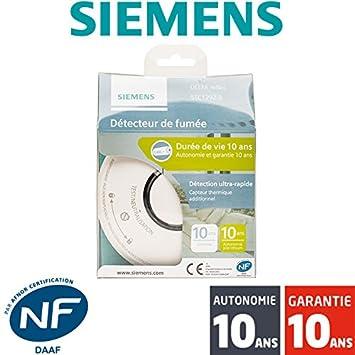 Detector de humo Siemens Delta réflex 1TE 1292-2 autonomía de 10 años y garantía.: Amazon.es: Bricolaje y herramientas