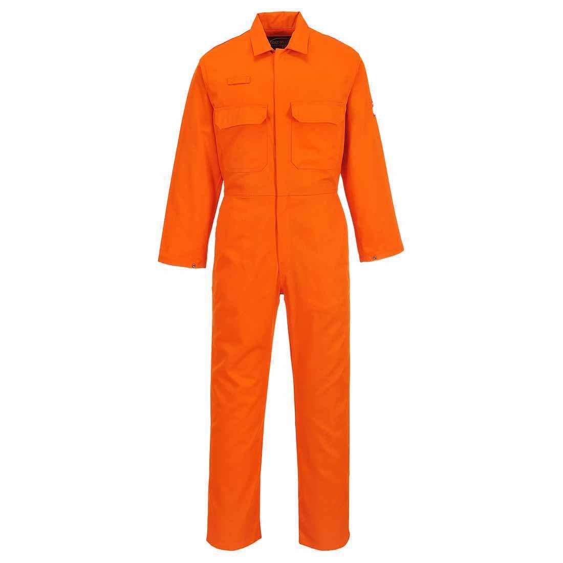 Portwest BIZ1ORRXXL Bizweld Flame Resistant Coverall Size: XX-Large Regular Orange