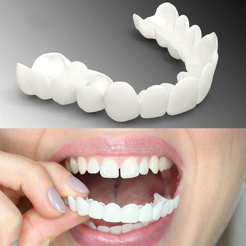 2 Piezas (Dentadura Superior Para Los Dientes) Reutilizable Para Adultos Snap On Perfect Smile Blanqueamiento De La Dentadura Fit Flex Cosmetic Teeth Confortable Chapa Cubierta Accesorios De Cuidado
