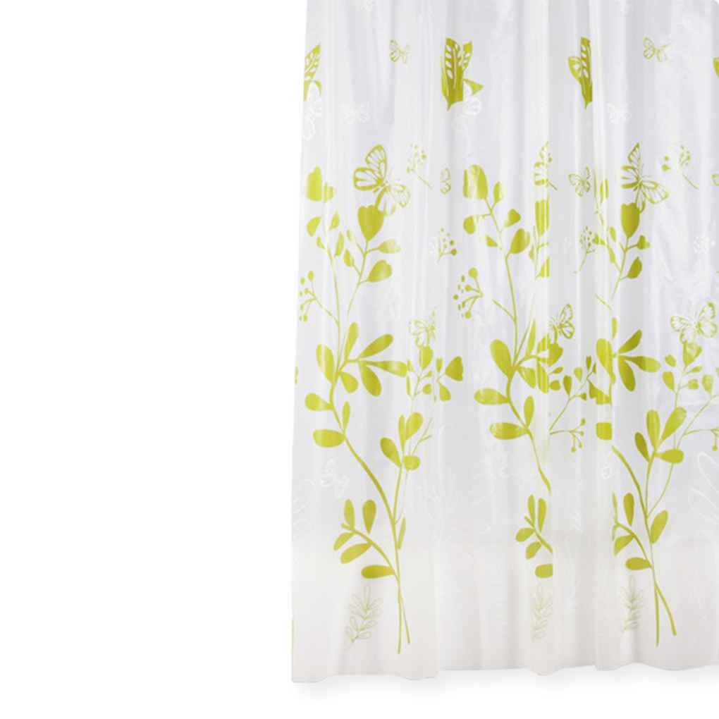 Omkuwl Butterfly Glass PEVA Mildew Free Shower Curtain Thickening Window Curtain 200180cm