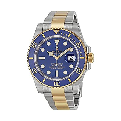Rolex Submariner Blue Dial Stainless Steel and 18K Yellow Gold Rolex Oyster Automatic Mens Watch 116613BLSO
