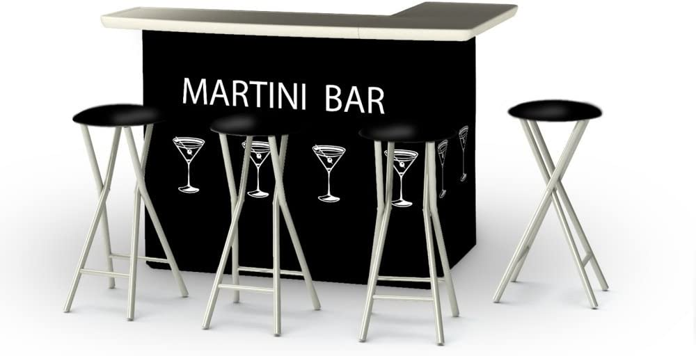Best of Times 2002W2507 Martini BAR Black One Size