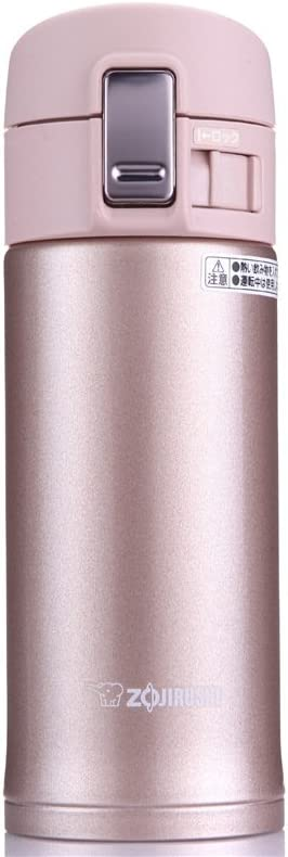 Zojirushi SM-KB36PX Stainless Steel Travel Mug, 12-Ounce/0.36-Liter, Pink Champagne