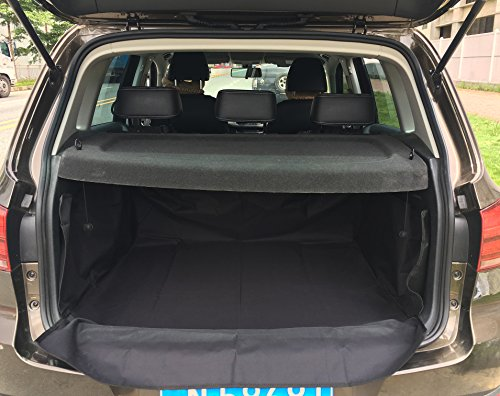 Pet Dog Waterproof Cargo Liner Non Slip Backing Cover For SUV Cars (Black)