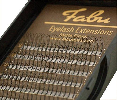Fabu Eyelash Extensions Russian Volume 3D Fans, 0.10 D curl, 8mm | 9mm | 10mm | 11mm | 12mm | 13mm | 14mm | 15mm (Eyelash Extension Lashes)