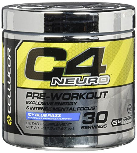 Cellucor C4 Neuro Pre Workout Powder, 30 Servings, Icy Blue Razz, 217.5 Gram