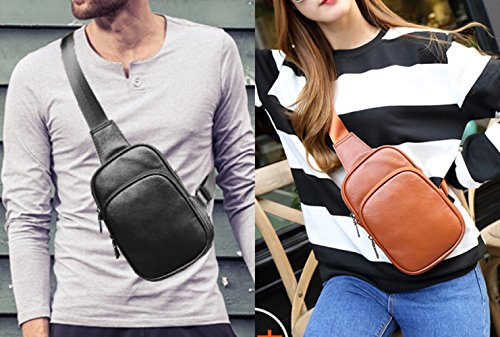 Business Travel Crossbody Grey Daypack Baafg Leather Sport Men Bags Chest Bag Sling Hiking Genuine For Shoulder Casual q7Xz7x