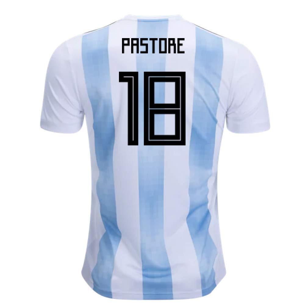 2018-19 Argentina Home Football Soccer T-Shirt Trikot (Javier Pastore 18) - Kids