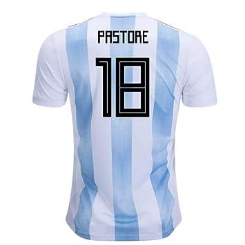 2018-19 Argentina Home Football Soccer T-Shirt Camiseta (Javier Pastore 18)