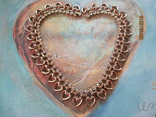 Stunning Signed Trifari Rhinestone Queen of Hearts Choker Necklace, Vintage Rhinestone Trifari Pat Pend Necklace, Trifari collectors Piece