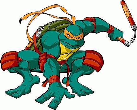 Amazon.com: Teenage Mutant Ninja Turtles Cartoon Parachoques ...