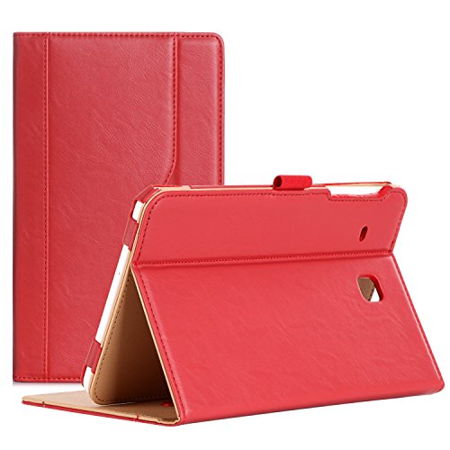 ProCase Galaxy Tab E 8.0 Case - Stand Folio Case Cover for Galaxy Tab E 8.0 4G LTE Tablet (Sprint,US Cellular, Verizon) SM-T377, Multiple Viewing Angles, Document Card Pocket (Red) (4g Sprint Ipad)