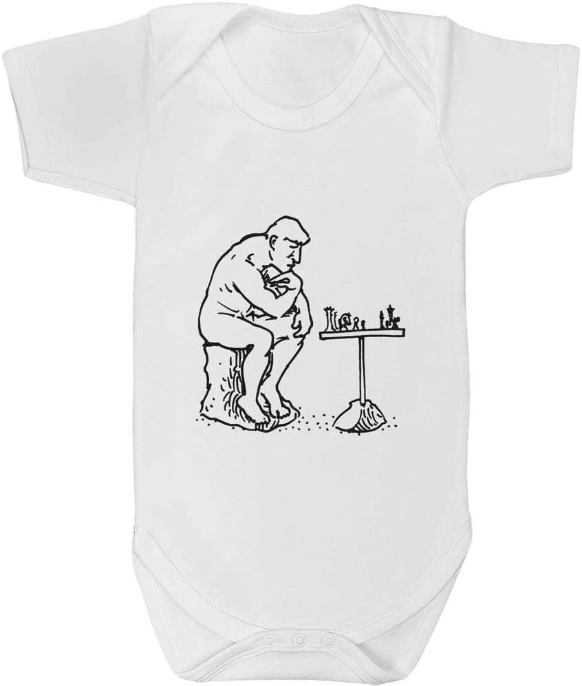GR00042718 Azeeda 0-3 Month Statue Playing Chess Baby Grow Bodysuit