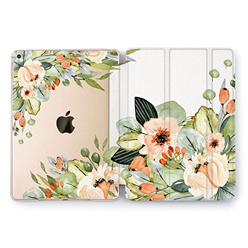 Wonder Wild iPad All Model Cases 9.7 inch Mini 1 2 3 4 Air 2 Floral Flower Watercolor Print Design Cover 10.5 Rose Gold Teen Girls Protective 12.9 2018 2017 New Girly Colorful Green Leaves Vintage -