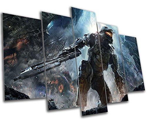 Amazon.com: Halo Gaming Canvas Print - 5 Panel Canvas - Multi Panel ...