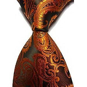 Dan Smatree ties Mens Clothing Formal Tie Dress Shirt Casual Classic Brown Paisley Party Necktie Groomsmen JV814