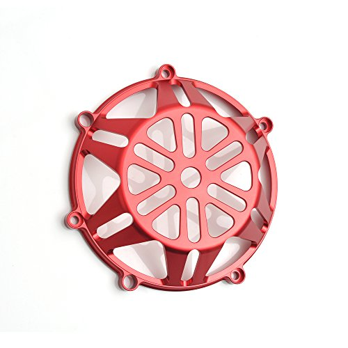 (CNC Billet Red Open Clutch Cover For Ducati Hypermotard 1100 EVO SP S Monster S4 S4R)