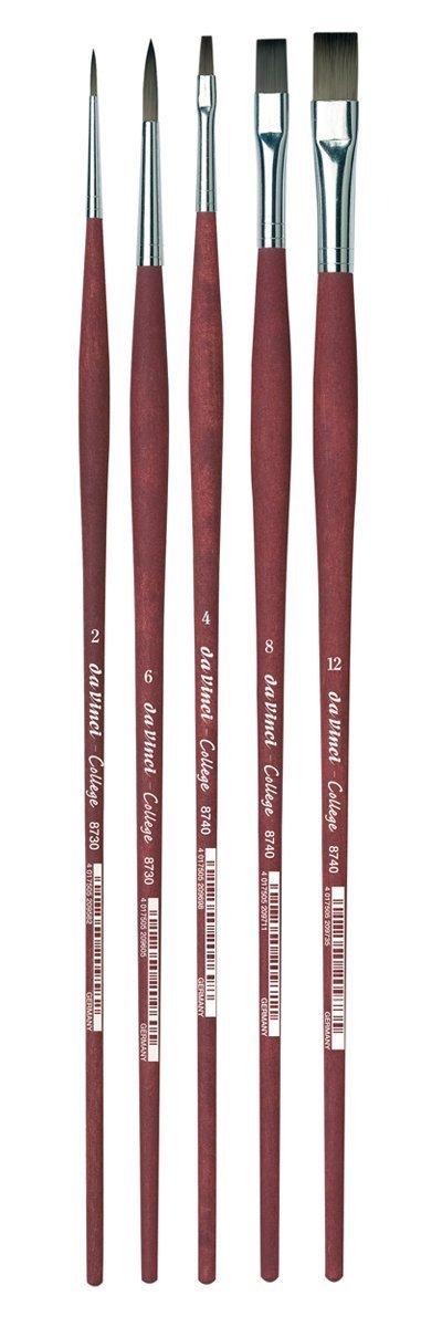 ویکالا · خرید  اصل اورجینال · خرید از آمازون · da Vinci Oil & Acrylic Series 5269 College Synthetic Paint Brush Set, Multiple Sizes, 5 Brushes (Series 8730 and 8740) wekala · ویکالا