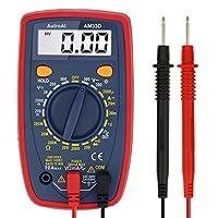 Multímetro digital AstroAI con ohm voltio amperio y medidor de prueba de voltaje de diodo
