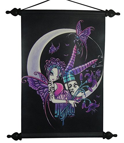 90016 Paige Punk Girl Gothic Fairy Printed Hanging Art Wall