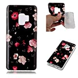 Misteem Back Cover for Samsung Galaxy S9 Plus Shell Colorful [Floral Colored Flower] Pattern Retro Stylish Case Flexible Silicone Soft Rubber Shockproof Cute Print Cover Protective