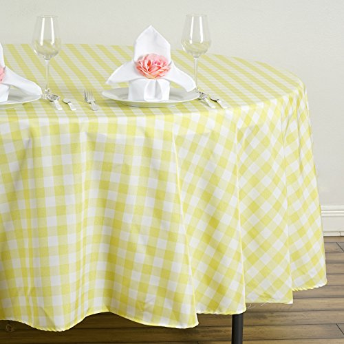 BalsaCircle 108 inch Gingham Checkered Polyester Tablecloth