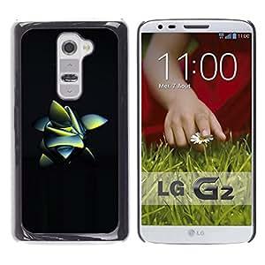Resumen de la rana Naturaleza 3D Negro Inspirado- Metal de aluminio y de plástico duro Caja del teléfono - Negro - LG G2