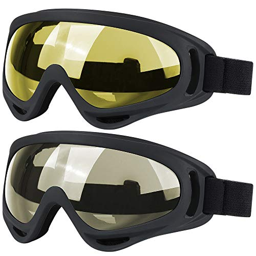 - Ski Goggles, 2 Pack Snowboard Goggles Skate Glasses, Motorcycle Cycling Goggles for Kids, Boys & Girls, Youth, Men & Women, with UV 400 Protection, Wind Resistance, Anti-Glare Lenses