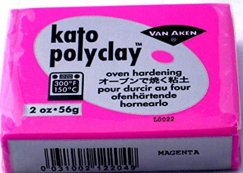 Kato Polyclay Polymer clay 2 ounces polymer clay Kato Polyclay brick of 56 grams 56 grams RED