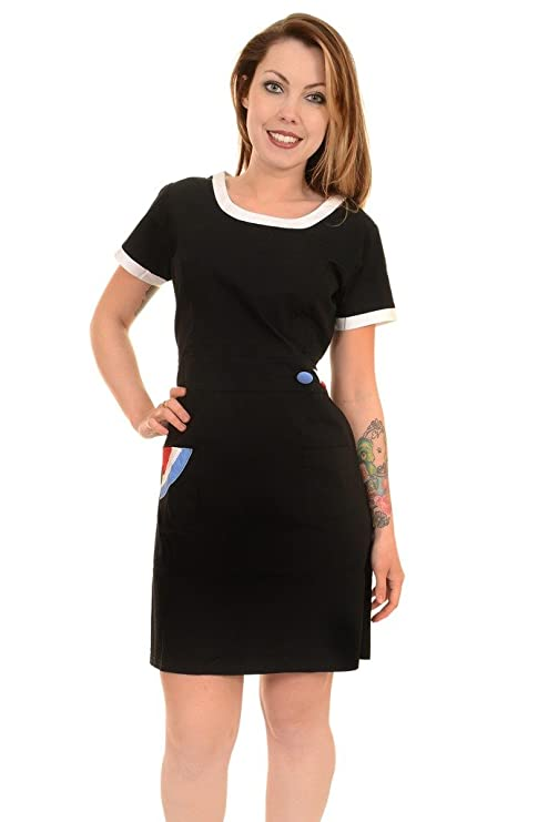 1960s Dresses | 60s Dresses Mod, Mini, Jakie O, Hippie Ladies 60s Vintage Mod Target Scooter Shift Dress £24.99 AT vintagedancer.com