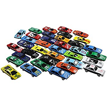 Race Car Toys Assorted for Kids, Boys or Girls - Free Wheeling Die Cast Metal Plastic Toy Cars Set of 36 Numbered Vehicles + Convertibles Great Gift, Party Favors or Cake Toppers