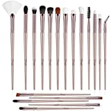 BESTOPE Eye Makeup Brushes Set, 18 Pieces Professional Cosmetic Brushes Includes Eye Shadow Eyebrow Eyelash Eye Liners Fan Brushes, with Champagne Gold Tapered Handles for Women Girls