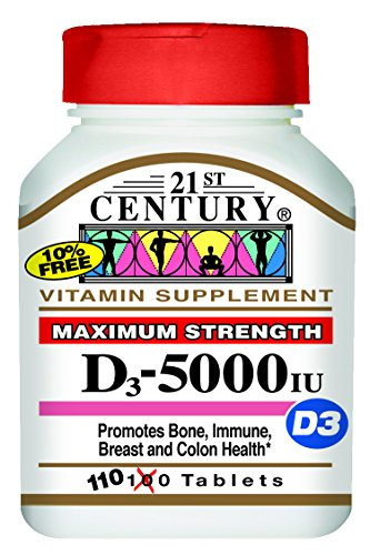 21st Century D 5000 IU Tablets, 110 Count