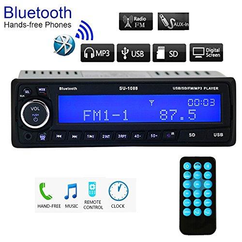 Regetek Car Stereo Receiver Bluetooth Handsfree Head Unit - Stereo Head Unit Bluetooth