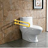 TiKing Grab Bars for Toilet,Toilet Grab Bars for Bathroom and Grab Bars for Toilets Ada Requirements - Safety Hand Rail Support - Handicap, Elderly, Injury,Bath Handle, Non Skid,ADA Compliant.(Yellow)