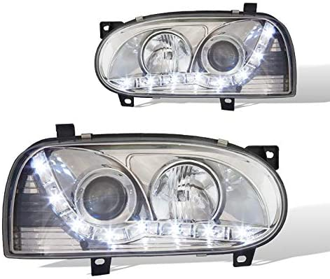 Chrome//Clear Winjet WJ10-0215-01 Projector Halo Headlights for 2000-2005 Mitsubishi Eclipse