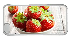 Cheap custom made iphone cases A bowl strawberries fresh red PC Transparent for Apple iPhone 5C
