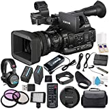 Sony PXW-X200 XDCAM Handheld Camcorder BP-U60 Lithium-Ion Battery 64GB SxS-1 (G1B) Memory Card (2-Pack) + 77mm 3 Piece Filter Kit + Carrying Case MDR-7506 Headphone Bundle