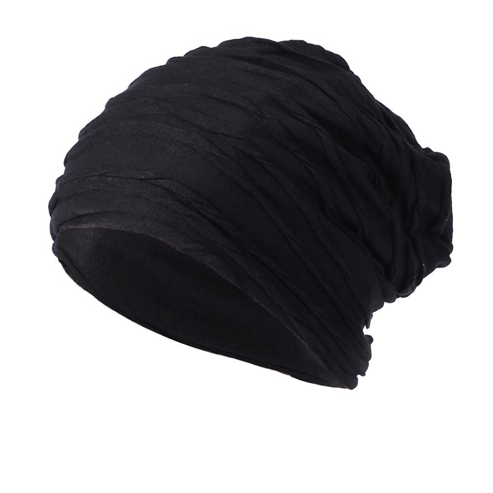 WUAI HAT ユニセックスアダルト B07HB1WHD4 ブラック Free Size